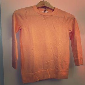 Stunning Apricot Club Monaco Merino Sweater,  XS